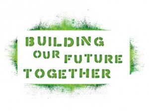 Building Our Future Together logo by Liz Seip Design