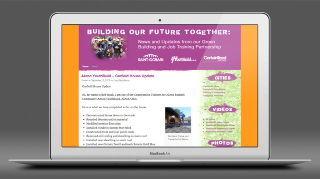Building Our Future Together website by Liz Seip Design