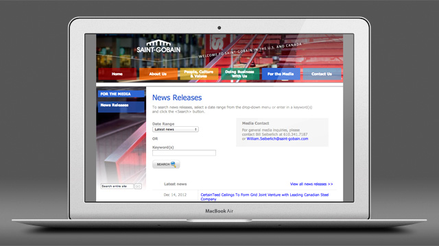 Saint-Gobain North America website by Liz Seip Design