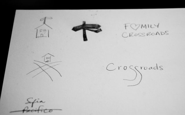 Family Crossroads logo sketches